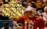 Joe Montana Football DOS Title Screen (VGA)