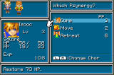 Golden Sun Game Boy Advance Select your Psynergy talent here...