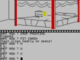 The Wizard of Akyrz ZX Spectrum What's on the bed