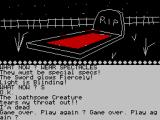 The Wizard of Akyrz ZX Spectrum Game over - this death is largely random