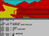 The Wizard of Akyrz ZX Spectrum On the bridge