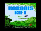Koronis Rift Apple II Title screen