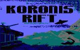 Koronis Rift Amstrad CPC Title screen