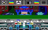 Koronis Rift Amstrad CPC View from inside your spaceship