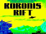 Koronis Rift ZX Spectrum Title screen