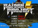 The Raiden Project PlayStation Main menu