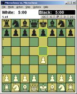 Microchess Windows A bold opening gambit (plugged into Winboard)