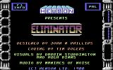 Eliminator Commodore 64 Title screen