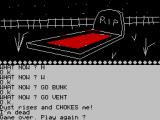 Escape from Pulsar 7 ZX Spectrum Entering the vent can randomly be fatal