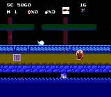 Ninja Kid NES Laying low in this water level where the enemies don't venture