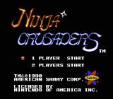 Ninja Crusaders NES Title screen