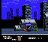 Ninja Crusaders NES Launching a star at an enemy