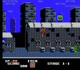 Ninja Crusaders NES Jumping up towards a powerup