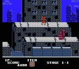 Ninja Crusaders NES A powerful mech enemy