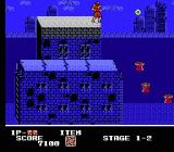 Ninja Crusaders NES Watch out for these bouncing launchers in the water