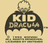 Kid Dracula Game Boy Title Screen
