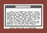 Drink & Drown Commodore 64 Instructions