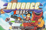 Advance Wars Game Boy Advance Title Screen
