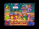 Huggly Saves the Turtles: Thinking Adventures Windows Celebrating around the campfire