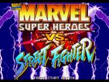 Marvel Super Heroes vs. Street Fighter PlayStation Title screen