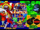 Marvel Super Heroes vs. Street Fighter PlayStation Character selection
