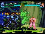 Marvel Super Heroes vs. Street Fighter PlayStation After having foot-summoned a bunch of demons, Blackheart connects his first offensive against Dan...