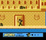 Mickey's Safari In Letterland NES A giant sand castle on the beach