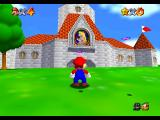 Super Mario 64 Nintendo 64 Going to the castle