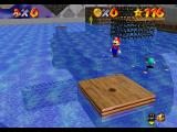 Super Mario 64 Nintendo 64 The Wet-Dry World completely flooded