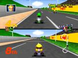 Mario Kart 64 Nintendo 64 2 player Mario GP mode in Luigi Raceway