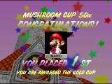Mario Kart 64 Nintendo 64 Winning the Gold Cup