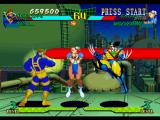 Marvel Super Heroes vs. Street Fighter PlayStation While Cyclops performs his Optic Blast (Middle) attack, Chun-Li calls Wolverine for some assistance.