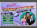 The Case of the Cautious Condor DOS Title screen and options menu