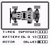 Super R.C. Pro-Am Game Boy Car Upgrade Screen