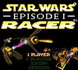 Star Wars: Episode I - Racer Game Boy Color Main Menu