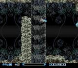 Super R-Type SNES Organic-themed stage with waterfalls.