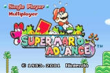 Super Mario Advance Game Boy Advance Title Screen