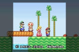 Super Mario Advance Game Boy Advance Intro Screen
