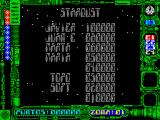 Star Dust ZX Spectrum High scores