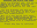 Grandpa Joe Plays the Open ZX Spectrum Note the programmer's name, then read the course name again