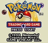 Pokémon Trading Card Game Game Boy Color Title Screen