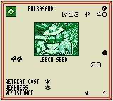 Pokémon Trading Card Game Game Boy Color Example of Card (Bulbasaur)