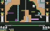 Auf Wiedersehen Monty Commodore 64 Navigating the hooks to get across
