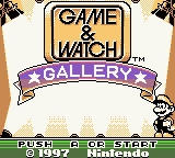 Game & Watch Gallery Game Boy Title Screen