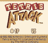 Tetris Attack Game Boy Title Screen