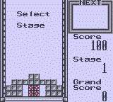 Tetris Blast Game Boy Select a Stage