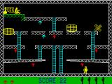 Monkey Bizness ZX Spectrum Onto screen 2 - the first mallet isn't really needed.