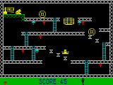 Monkey Bizness ZX Spectrum A few staged jumps here