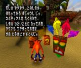 Crash Bandicoot PlayStation Some introduction and help screens were added to Japanese version.