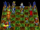 Battle Chess: Enhanced CD-ROM DOS Queen takes knight.